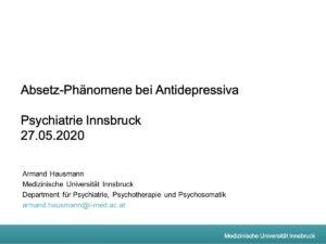 Hausmann AD Absetzphanomene Innsbruck 27.05.2020