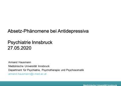 Absetzphänomene bei Antidepressiva