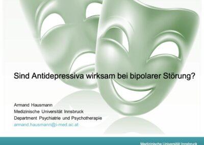 Antidepressiva bei Bipolarität