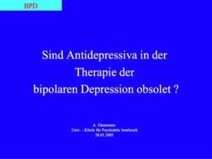 Hausmann Antidepressiv obsolet 28.01.2005