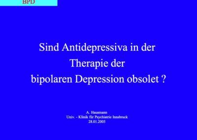 Sind Antidepressiva in der Therapie der bipolaren Depression obsolet?