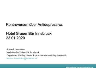 Kontroversen über Antidepressiva