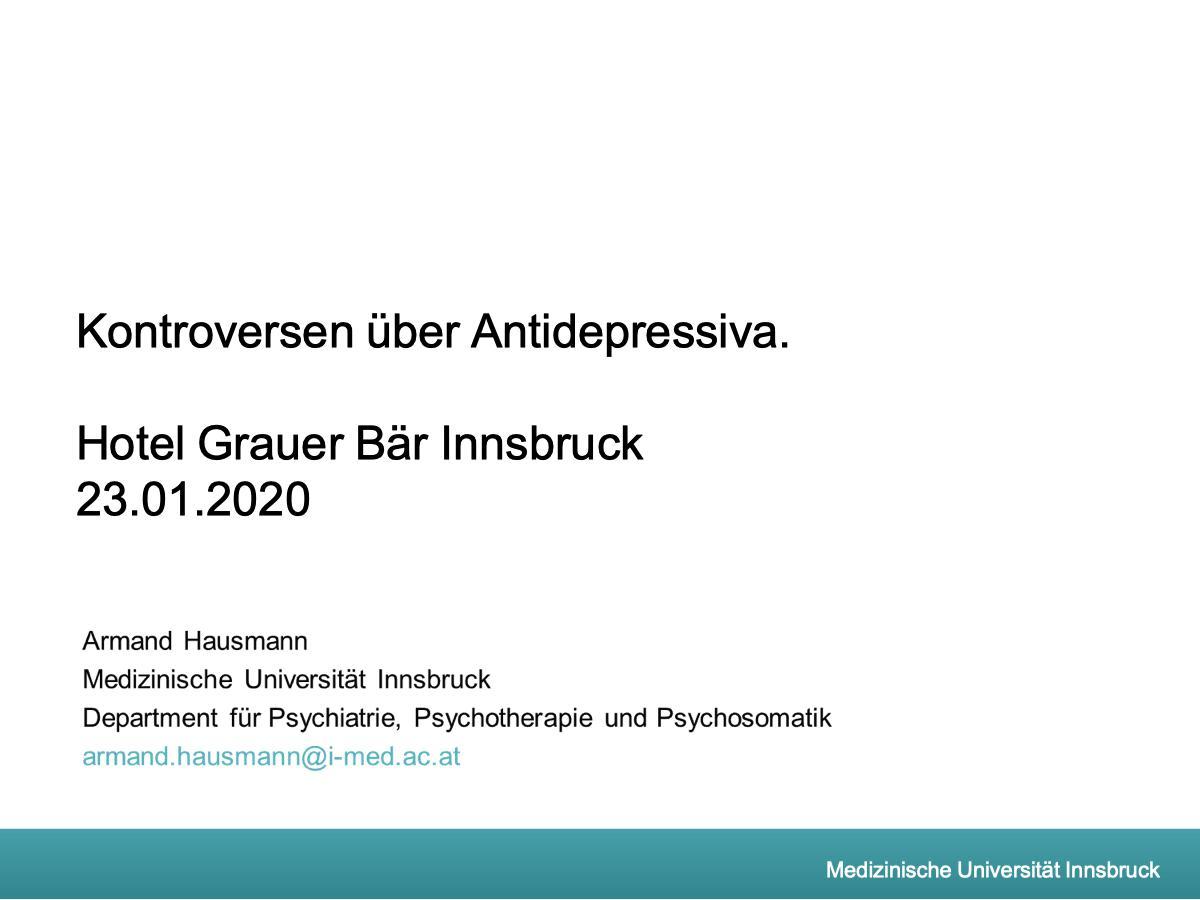 Kontroversen über Antidepressiva - Psychiater
