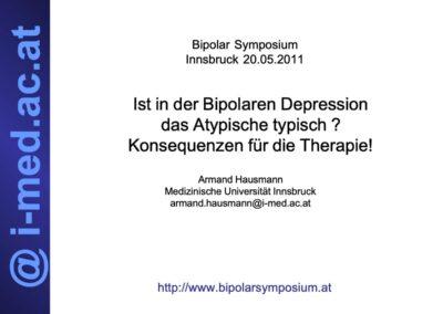 Ist in der Bipolaren Depression das Atypische typisch? Konsequenzen für die Therapie!