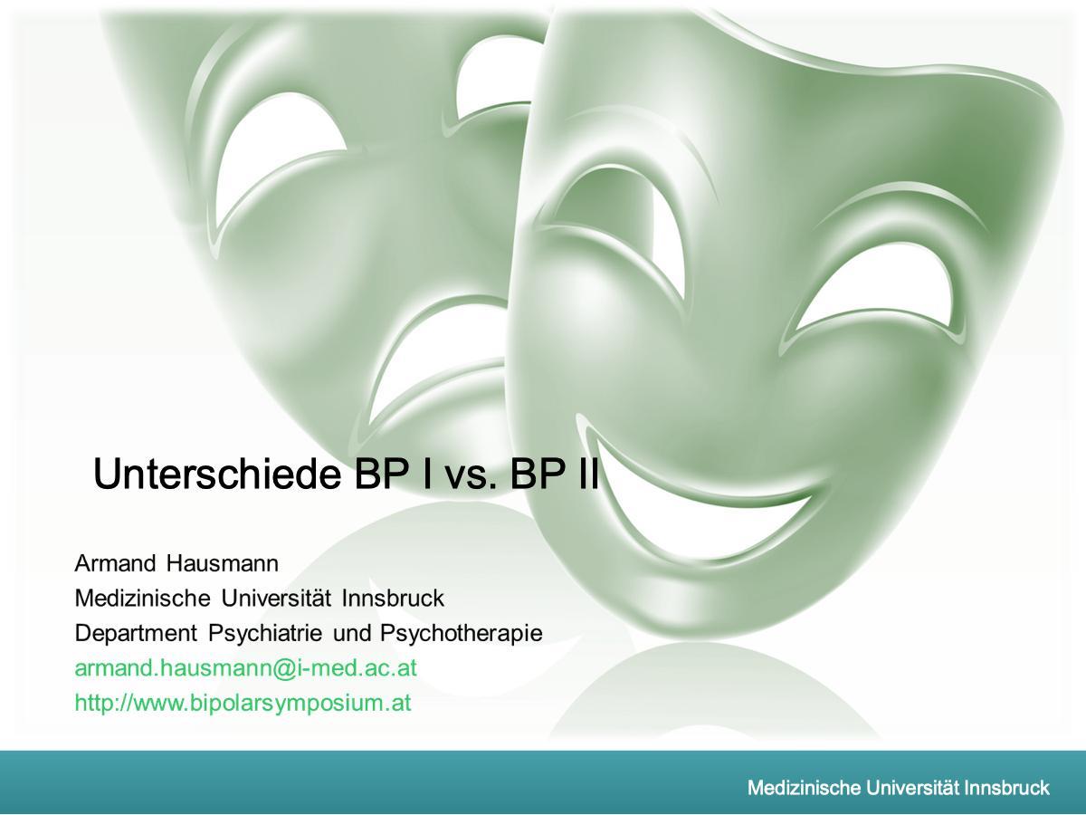 Unterschiede BP I vs. BP II - Psychiater