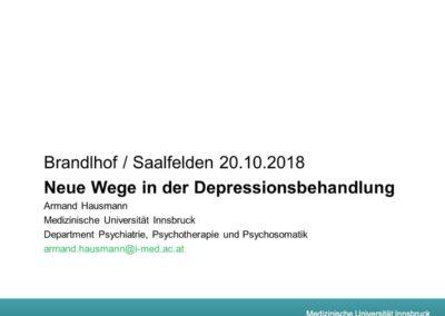 Neue Wege in der Depressionsbehandlung