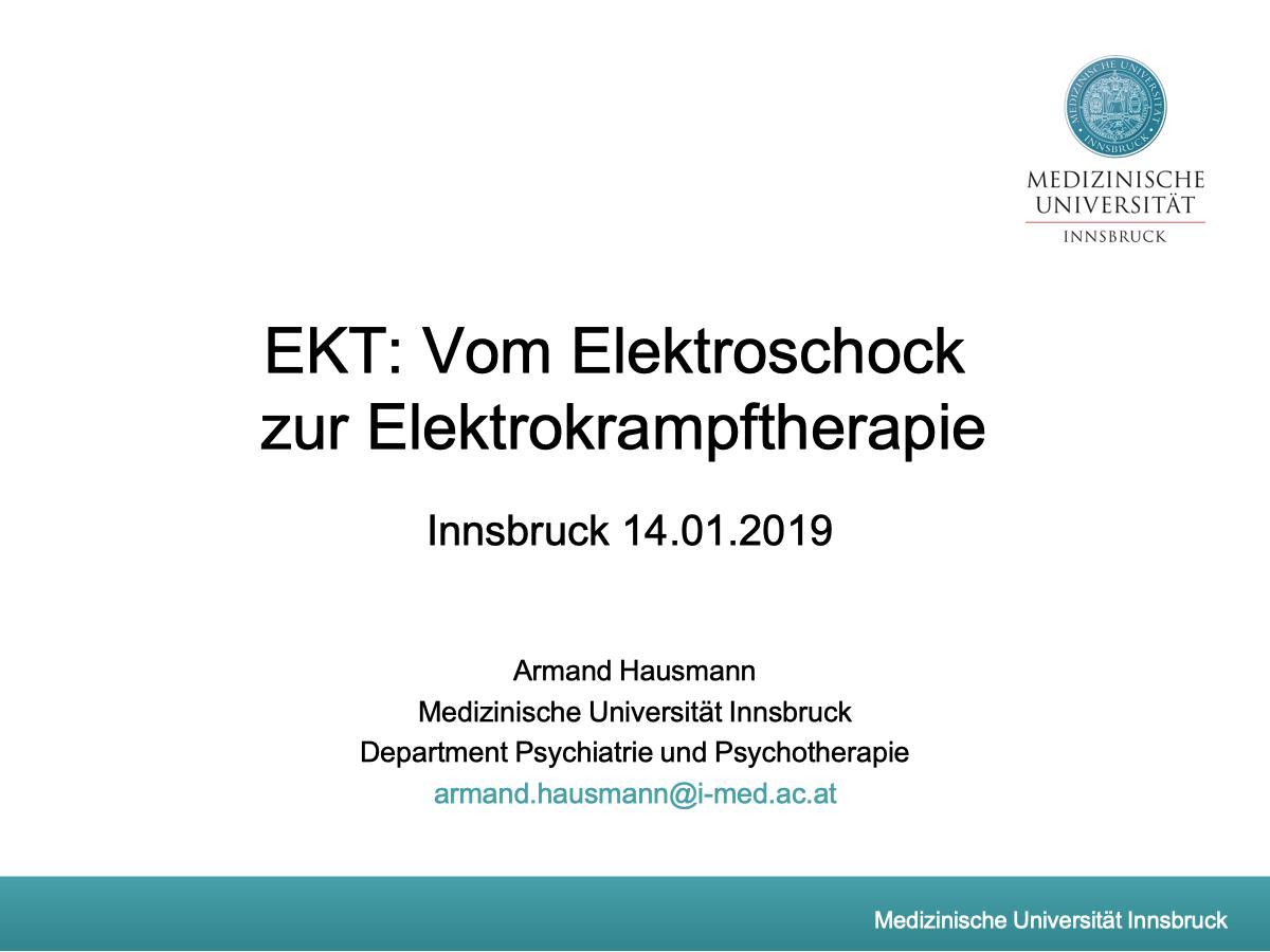 EKT: Vom Elektroschock zur Elektrokrampftherapie - Psychiater
