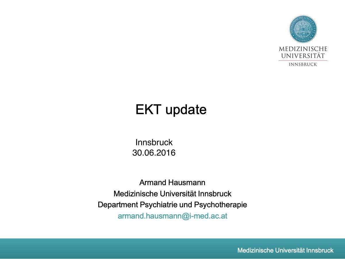 EKT update - Psychiater