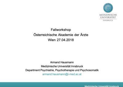 Fallworkshop Österreichische Akademie der Ärzte Wien