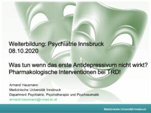 Hausmann Therapieresistente Depression 08.10.2020