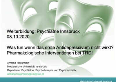Pharmakologische Interventionen bei TRD!