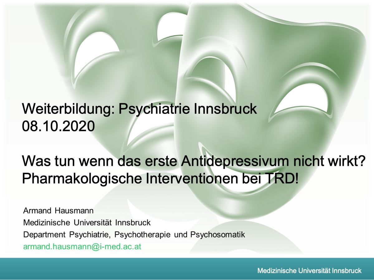 Pharmakologische Interventionen bei TRD! - Psychiater