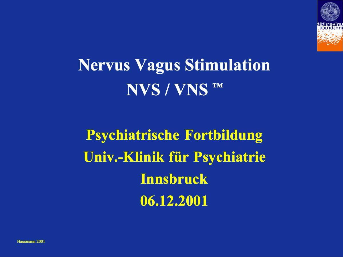Nervus Vagus Stimulation - Psychiater